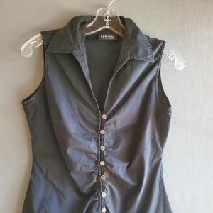 New York & Company Black Sleeveless Blouse (XS)